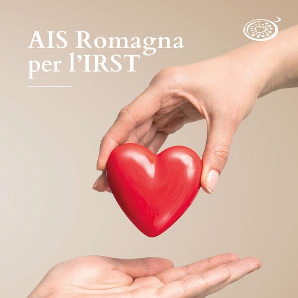 Mani che cedono un cuore: AIS Romagna per l'irst